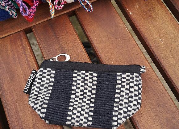 Mini Purse - Black & White Check