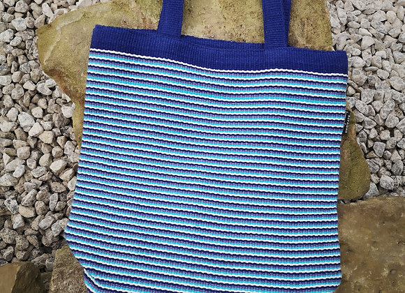 Small Tote Bag : Blue Stripes