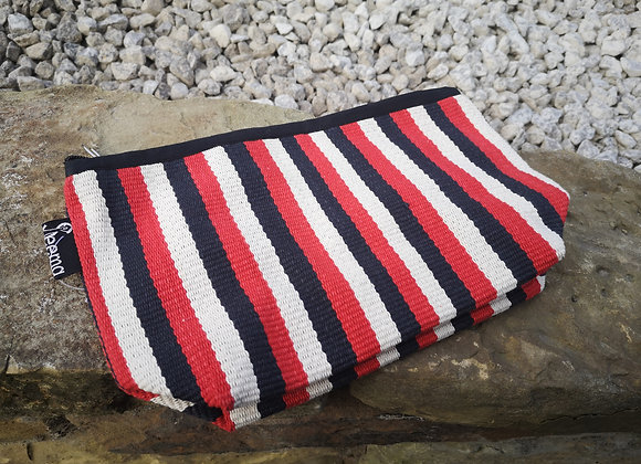 Medium Pouch - Red, White & Black Stripe