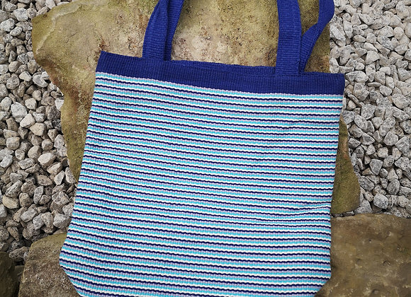 Medium Tote Bag : Blue Stripes