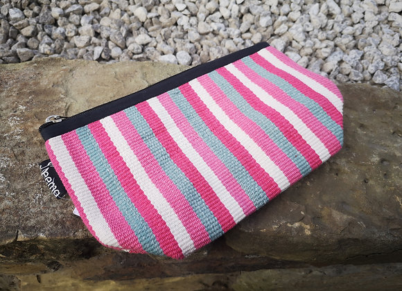 Medium Pouch - Pink Stripes