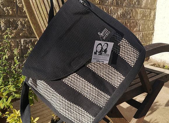College Bag- Black & White Check