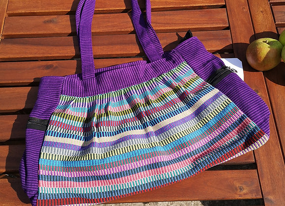 Gathered Bag : Purple