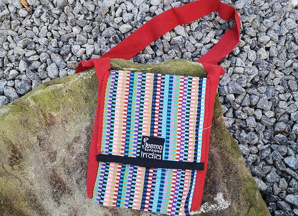Maya Bag - Vibrant Check & Red Strap
