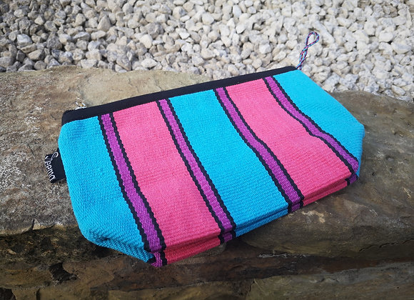 Medium Pouch - Pink and Blue