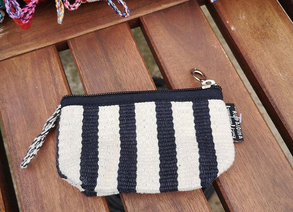 Mini Purse - Black & White Stripes