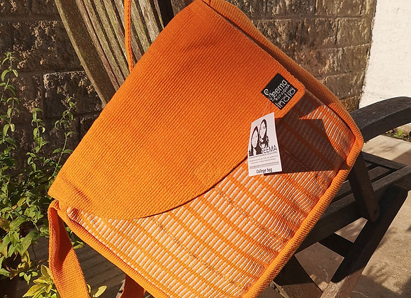 College Bag- Orange & White Stripes