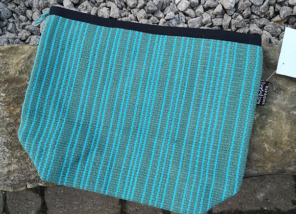 Large Pouch - Turquoise Stripes