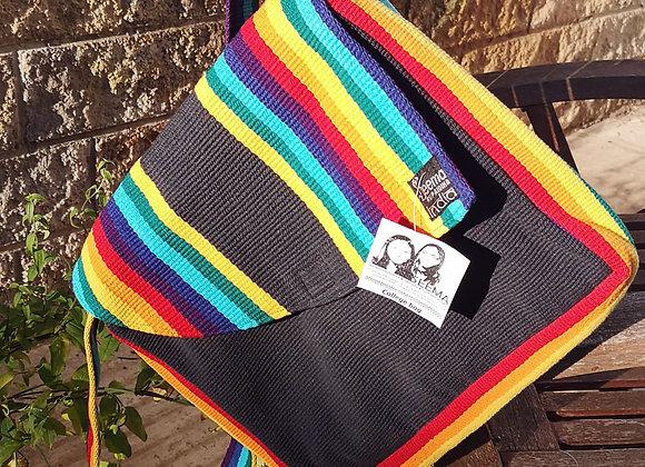 College Bag- Rainbow & Black