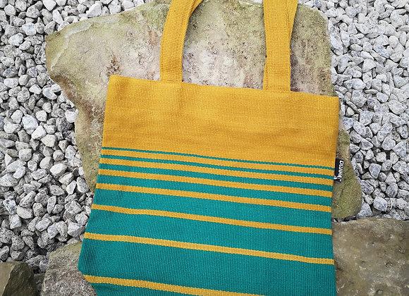 Small Tote Bag : Mustard & Green