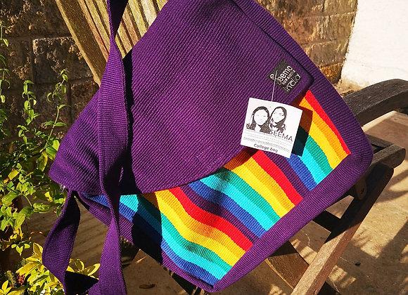 College Bag- Purple & Rainbow