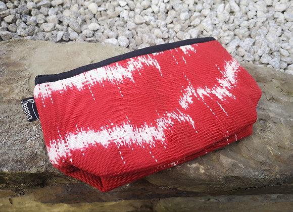 Medium Pouch - Tie Dye Red