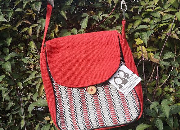 Rachel Shoulder Bag - Red & Red Check