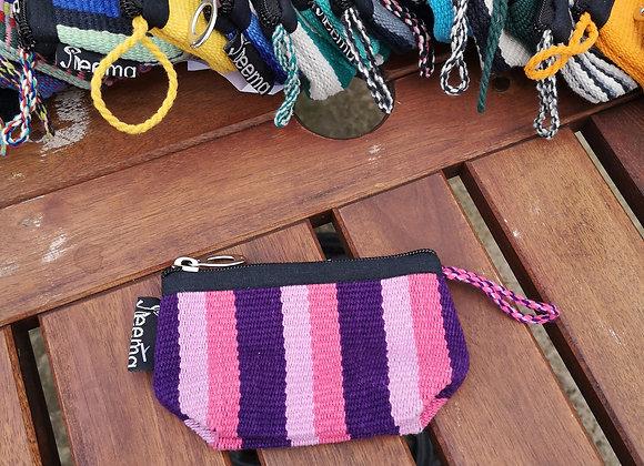 Mini Purse - Purple & Pink Stripes