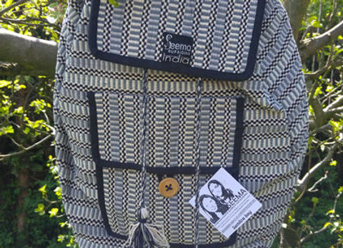 Sumitra Back Pack - Grey Check