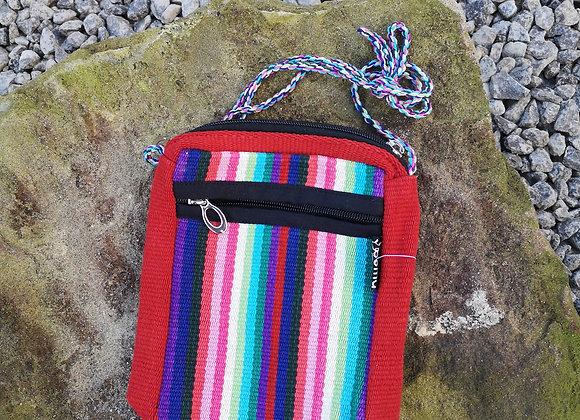 'Passport' Bag - Retro Stripes Red Edge