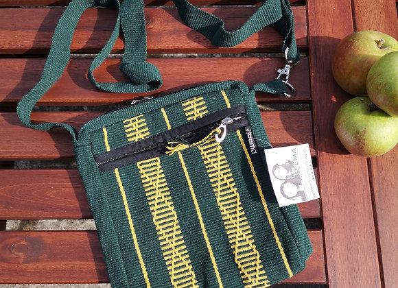 Aria Bag : Green & Yellow Diamond