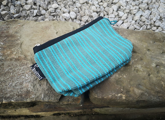 Small Pouch - Turquoise Stripes