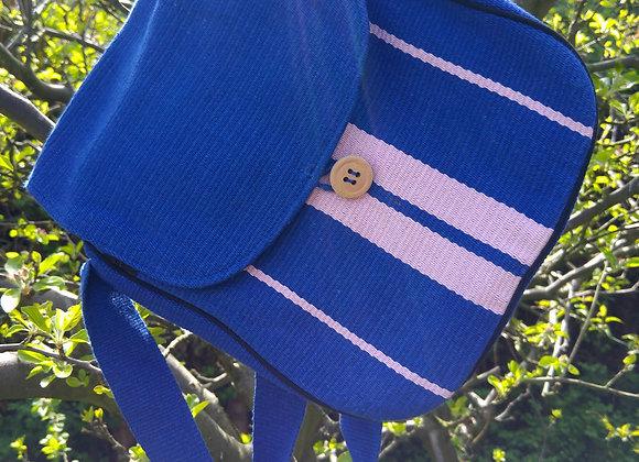 Rachel Shoulder Bag - Blue & Pink