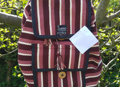 Sumitra Back Pack - Brown Stripe