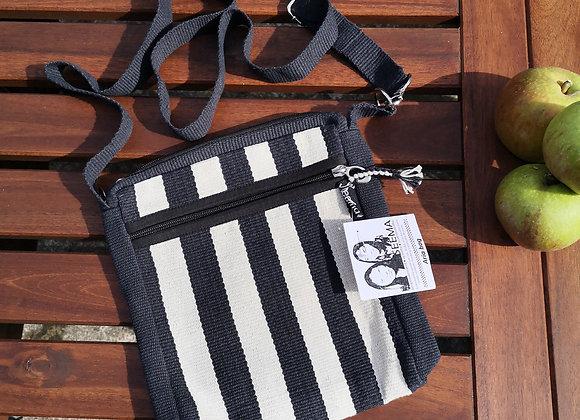 Aria Bag : Black and White Stripe