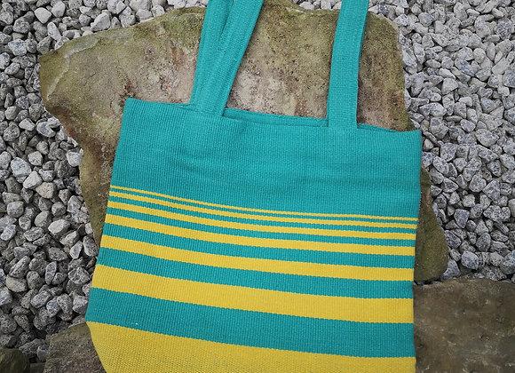 Small Tote Bag : Green & Yellow