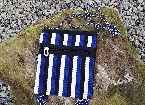 Rama Bag - Blue, Black & White Stripes