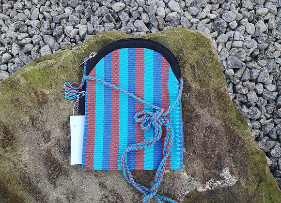 Mobile Bag - Blue & Brown Stripes