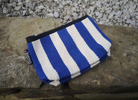 Small Pouch - Blue and White