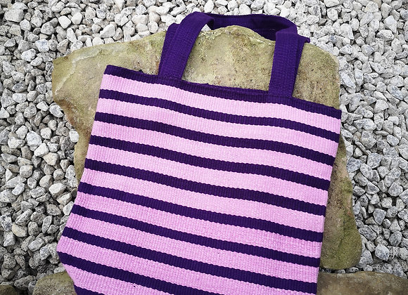 Small Tote Bag : Purple Stripes