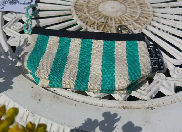 Mini Purse - Mint and White Stripes