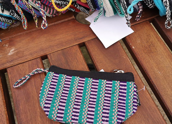 Mini Purse - Lilac & Green Check