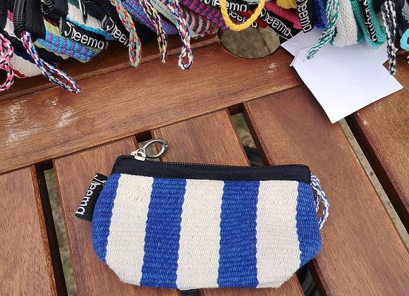 Mini Purse - Blue & White Stripes