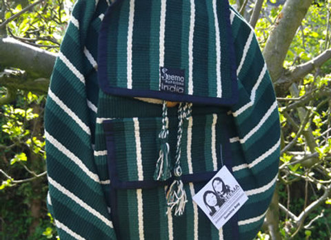 Sumitra Back Pack - Dark Green Stripe