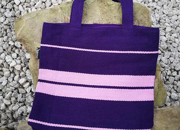 Small Tote Bag : Purple & Pink