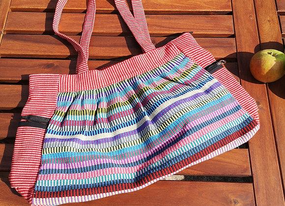Gathered Bag : Salmon Pink