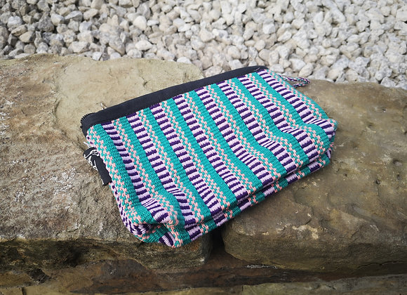 Small Pouch - Lilac & Green Check