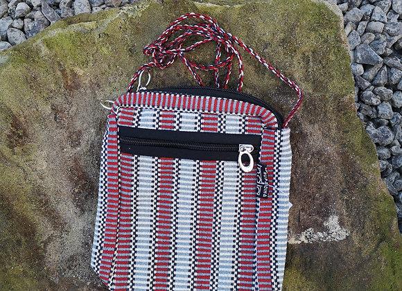 'Passport' Bag - Red & Grey Check