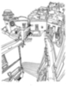 LINE DRAWING CAPRI 1949
