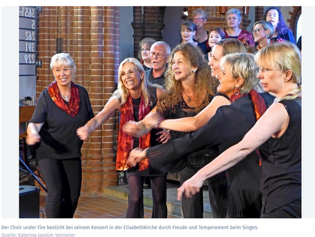 Choir under Fire bringt Kirche zum Beben – Benefiz für Obdachlosenverein