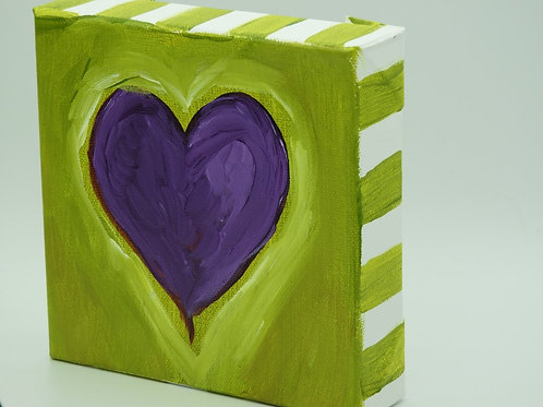 Purple Heart with Green 128.3 by Kathy Holmes