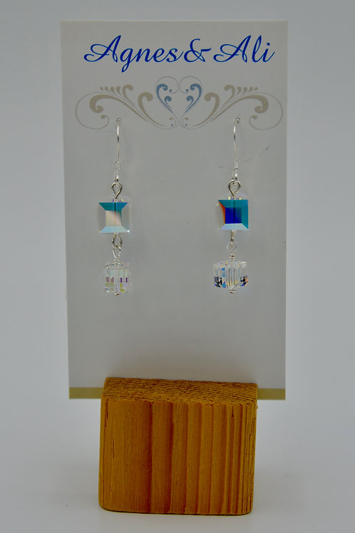 Double Crystal Earring by Gail Moyls