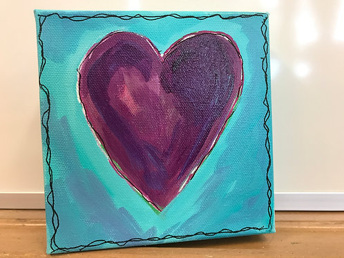 Purple Heart with Blue 128.4 by Kathy Holmes
