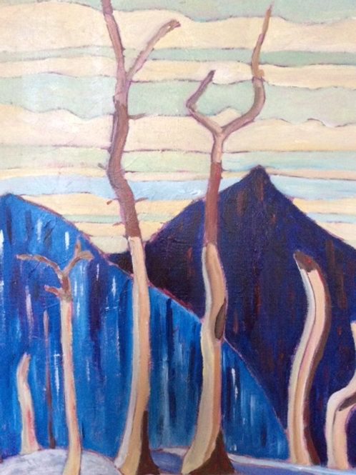 Winter Mountain Study #4