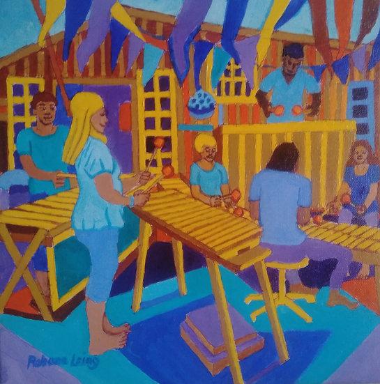 Marimbas #2 Cowichan Bay Boat Festival by Rohana Laing