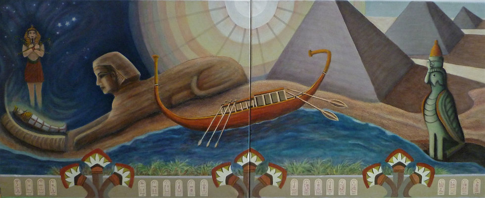Funeral Boat To Eternity by Carra Christy