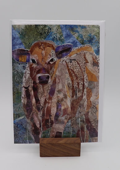 Calf Card by Christine Earl