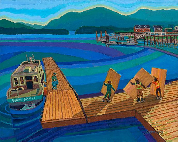 The Plywood Goes to Sea Tofino by Rohana Laing