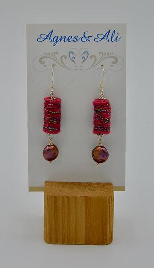 Felt Earrings by Gail Moyls