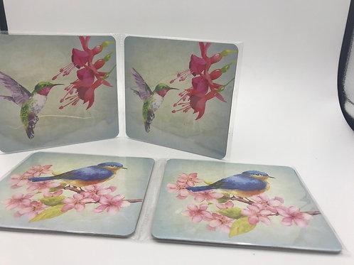 Bird Coaster - Double Sided  Set of 2